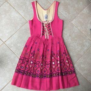 Vintage German Dirndl Dress Oktoberfest Embroider